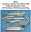 1996 Ford 7.3L Powerstroke .5 Full Boar 4 inch Single Outlet Diesel Exhaust Systems