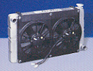 Dual 11 Inch SPAL Fan High Performance with Shroud - (Pull)