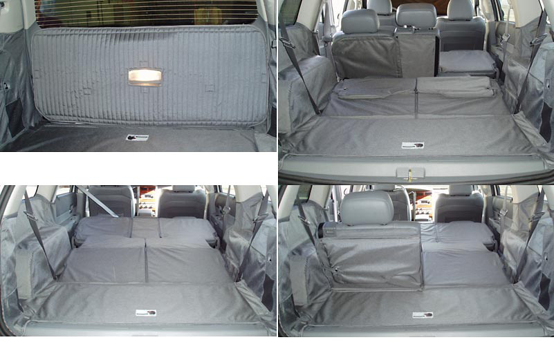 Dodge Durango 04-05 Cargo Liner, models w/ Liftgate, Rear Speaker, 50/50 3rd Row Bench, 40/20/40 2nd Row Bench