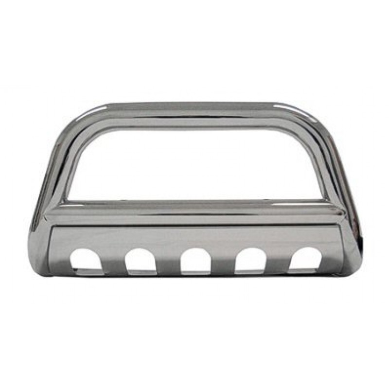 Ford Super Duty F250 1999-2007 Polished SS Bull Bar W/ Skid Plate