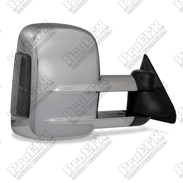 Chevrolet Full Size Pickup  1988-1998 Chrome Electric Heated Towing Mirrors