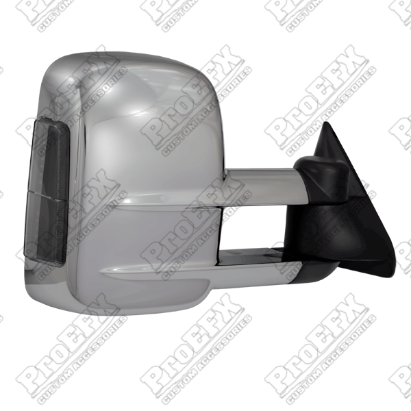 Chevrolet Full Size Pickup  1988-1998 Chrome Manual Towing Mirrors