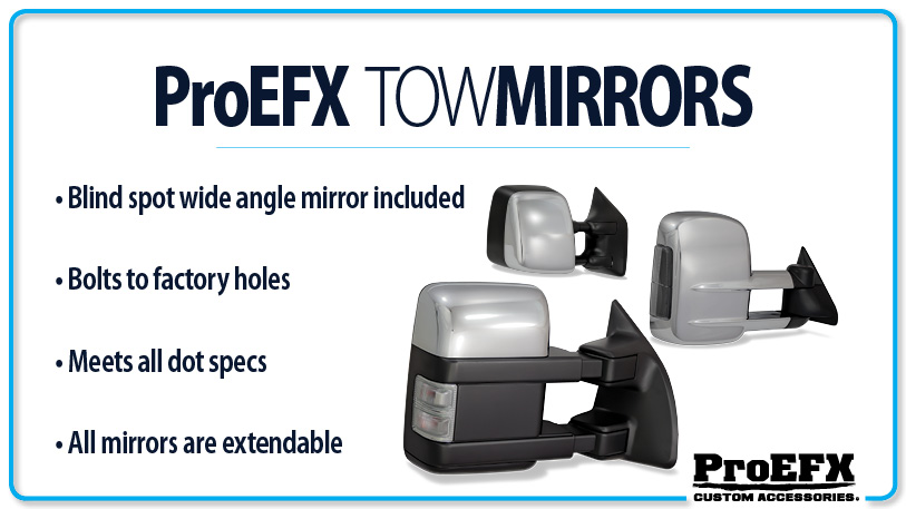 Dodge Ram 2500 2010-2013 Chrome Electric Heated Towing Mirrors