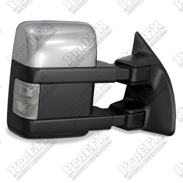 Ford Super Duty F250/F350 2003-2012 Chrome/Paintable Electric Heated Towing Mirrors