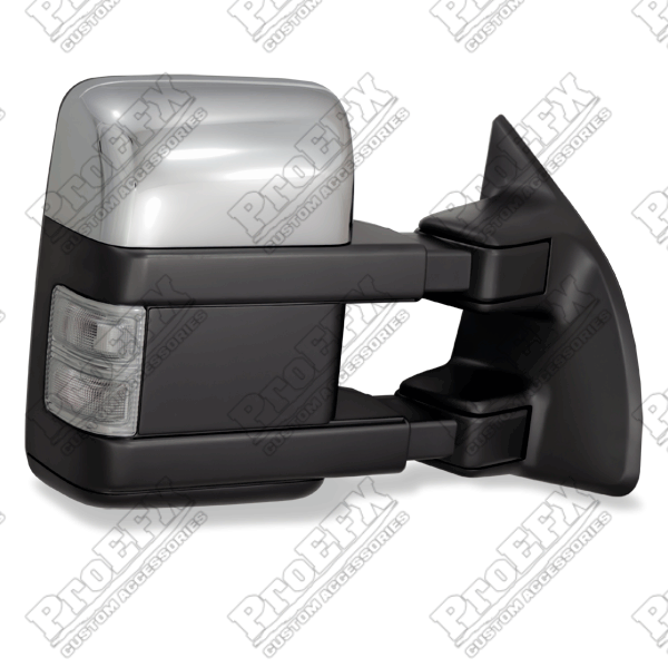 Ford Super Duty F250/F350 2008-2012 Chrome/Paintable Electric Heated Towing Mirrors