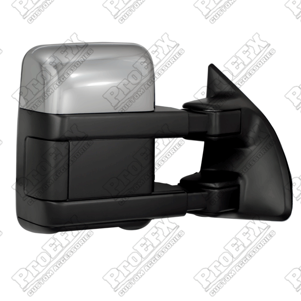 Ford Super Duty F250/F350 1999-2012 Chrome/Paintable Electric Towing Mirrors