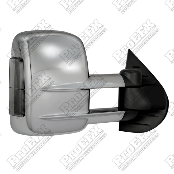 Chevrolet Silverado  2007-2013 Chrome Manual Towing Mirrors