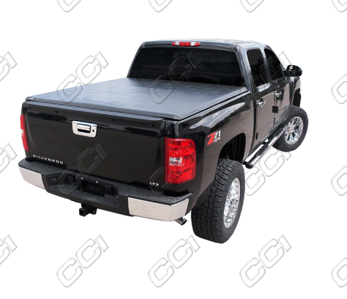 Chevrolet Silverado 2007-2011 Crew Cab Tri Fold Tonneau Cover (5.5 Bed Track Style)