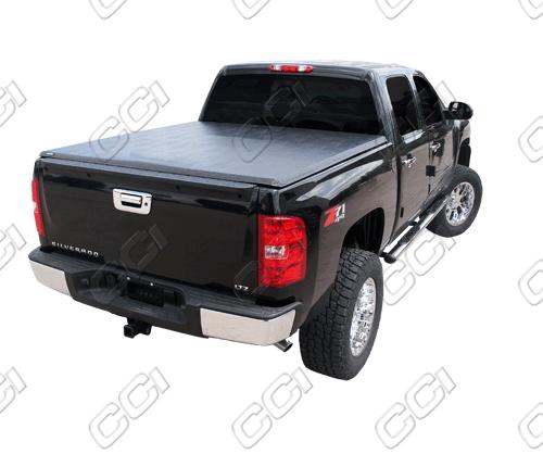 Gmc Sierra 2007-2011 Crew Cab Tri Fold Tonneau Cover (6.5 Bed Track Style)