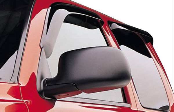 Dodge Dakota Quad Cab 2000-2003 Dark Smoke Slimline Vent Visors