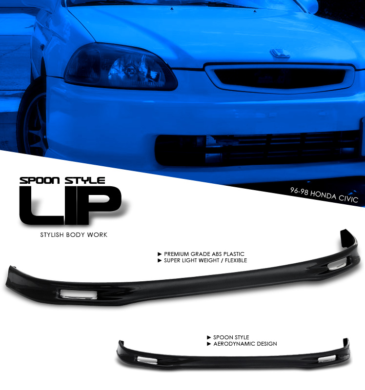 Honda Civic 1996-1998   Front Spoon Style Lip Bumper Lip