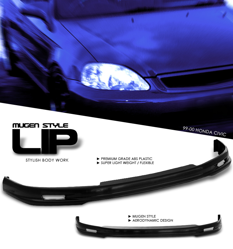 Honda Civic 1999-2000  Front Mugen Style Lip Bumper Lip