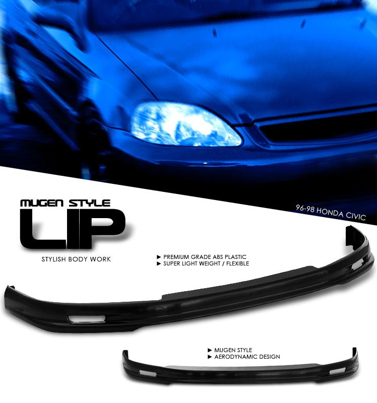 Honda Civic 1996-1998  Front Mugen Style Lip Bumper Lip