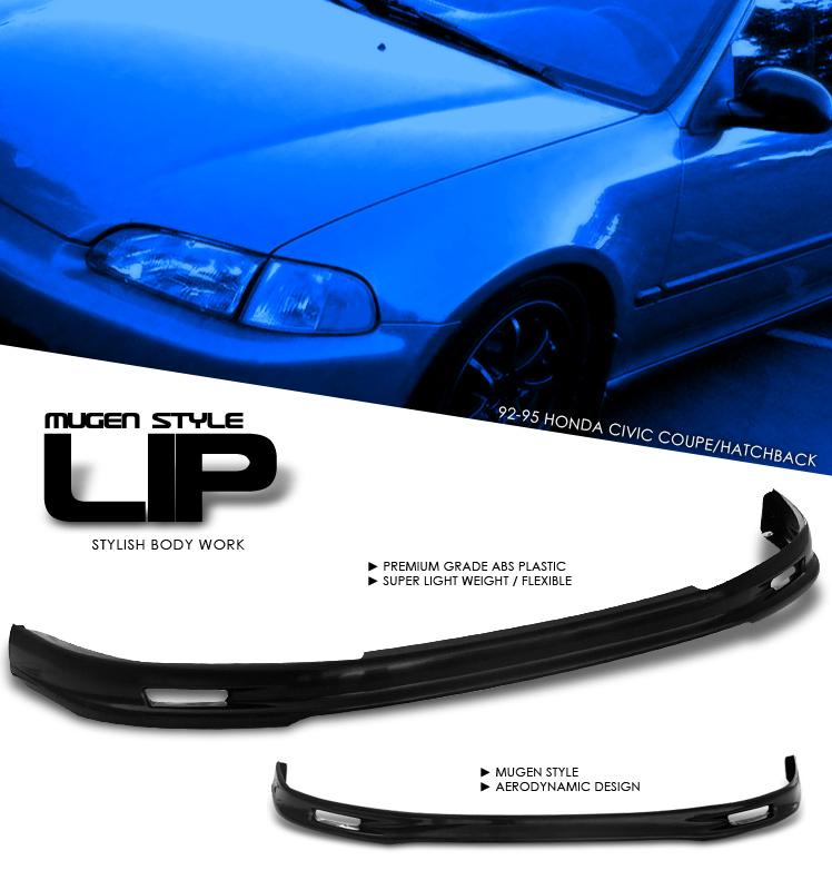 Honda Civic 1992-1995 2/3dr Front Mugen Style Lip Bumper Lip