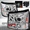 2003 Cadillac Escalade   Chrome Ccfl Halo Projector Headlights  