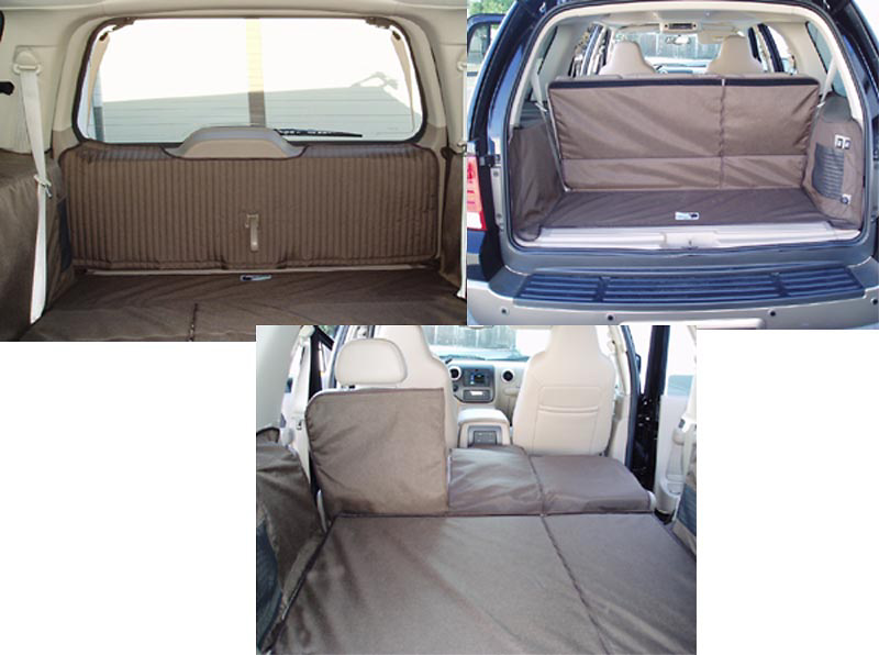 Ford Expedition 03-05 Cargo Liner, models w/ Liftgate, Rear A/C, Rear Speaker, 3rd Row, 40/20/40 2nd Row Bench