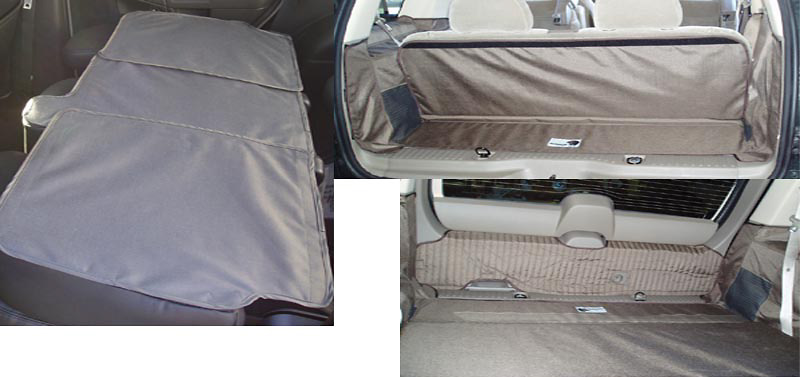 Ford Explorer 02-05 Cargo Liner, models w/ Liftgate, Rear A/C, Rear Speaker, 3rd Row, 60/40 3rd Row Bench
