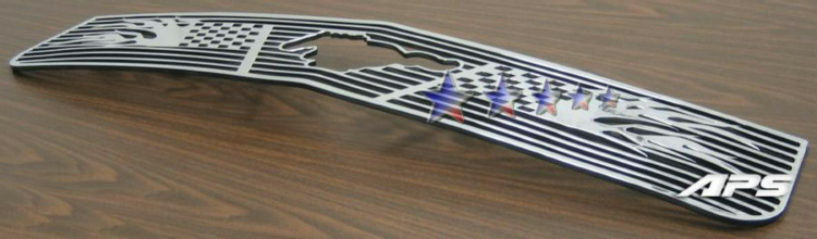 Ford Mustang  2005-2009 Polished Main Upper Symbolic Grille