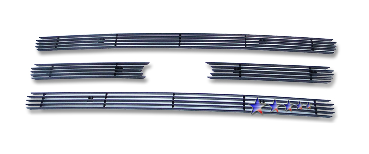 Ford Expedition  2007-2012 Black Powder Coated Main Upper Black Aluminum Billet Grille
