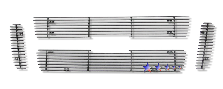 Ford Explorer Sport 2001-2003 Black Powder Coated Main Upper Black Aluminum Billet Grille