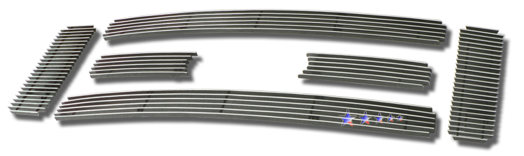 Ford Super Duty  2008-2010 Polished Main Upper Aluminum Billet Grille