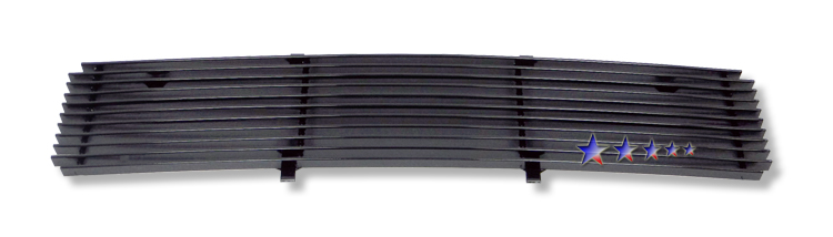Ford Super Duty  2008-2010 Black Powder Coated Lower Bumper Black Aluminum Billet Grille