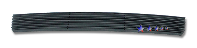 Ford Expedition  2007-2012 Black Powder Coated Lower Bumper Black Aluminum Billet Grille