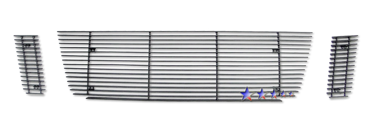 Ford Explorer Sport Trac  2007-2010 Black Powder Coated Main Upper Black Aluminum Billet Grille