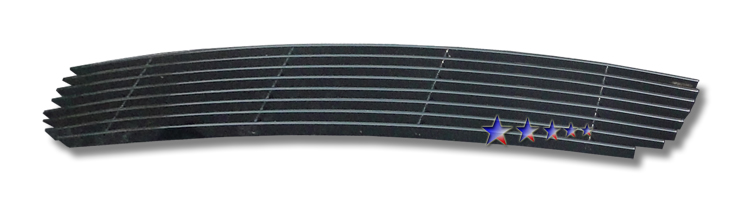 Ford Explorer Sport Trac  2007-2010 Black Powder Coated Lower Bumper Black Aluminum Billet Grille