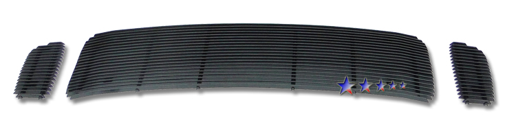 Ford Super Duty  1999-2004 Black Powder Coated Main Upper Black Aluminum Billet Grille