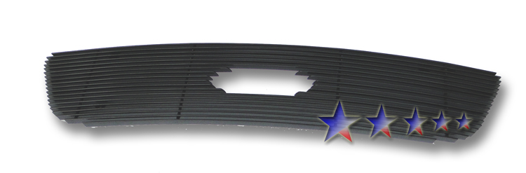 Ford F150 F-150 Lightning 1999-2003 Black Powder Coated Main Upper Black Aluminum Billet Grille