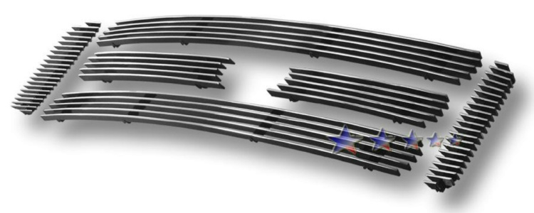 Ford Super Duty  2005-2007 Polished Main Upper Aluminum Billet Grille