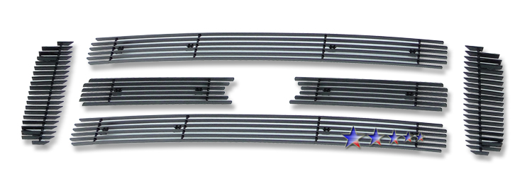 Ford Super Duty  2005-2007 Black Powder Coated Main Upper Black Aluminum Billet Grille