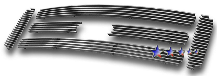 Ford Super Duty  2005-2007 Polished Main Upper Stainless Steel Billet Grille
