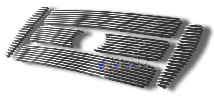 2004-2011 Ford Super Duty F-750 Polished Aluminum Billet Grille - Main Upper