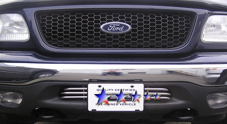Ford Mustang  2005-2009 Polished Main Upper Stainless Steel Billet Grille