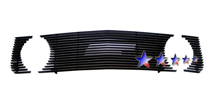 Ford Mustang  2005-2009 Black Powder Coated Main Upper Black Aluminum Billet Grille