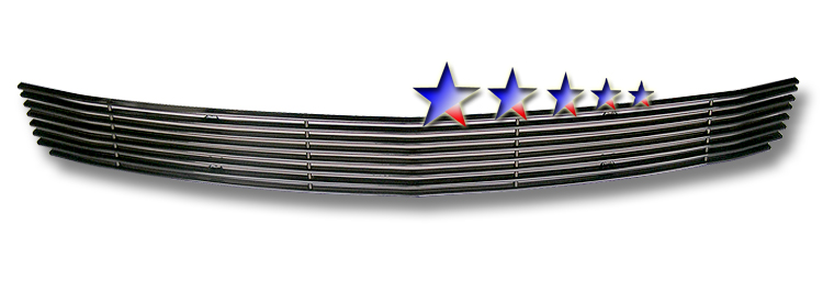 Ford Mustang  2005-2009 Black Powder Coated Lower Bumper Black Aluminum Billet Grille