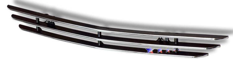 Ford Mustang  2005-2009 Polished Hood Scoop Aluminum Billet Grille