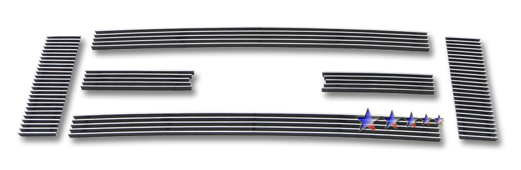 Ford Econoline  2008-2012 Polished Main Upper Aluminum Billet Grille