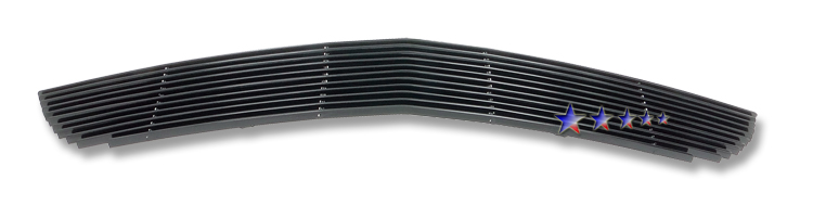 Ford Mustang Shelby Gt 500 2007-2009 Black Powder Coated Lower Bumper Black Aluminum Billet Grille
