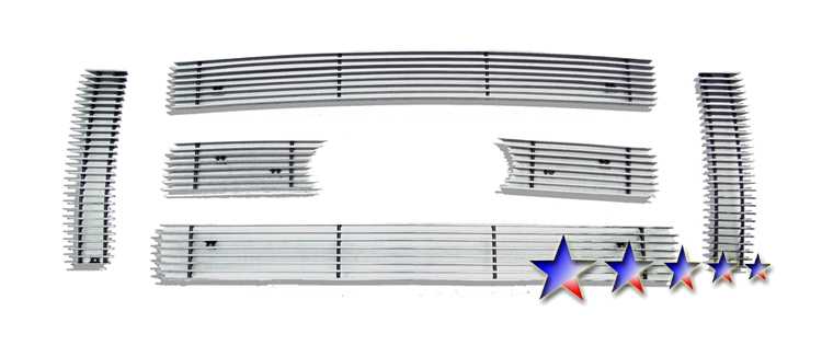 Ford F150 King Ranch 2009-2012 Polished Main Upper Aluminum Billet Grille