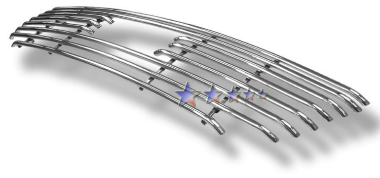 Ford F150 Lightning 1999-2003 Polished Main Upper Tubular Grille