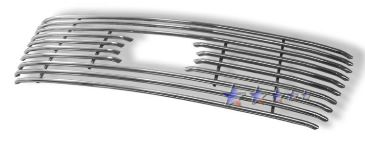 Ford F150  2004-2008 Polished Main Upper Tubular Grille