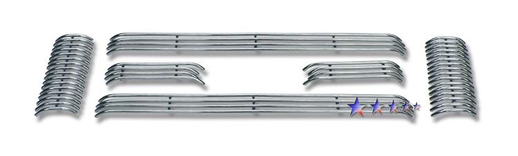 Ford Super Duty  2008-2010 Polished Main Upper Tubular Grille