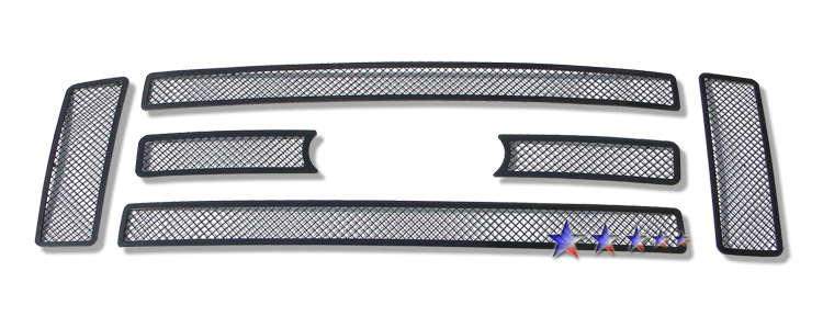Ford Super Duty  2008-2010 Black Powder Coated Main Upper Black Wire Mesh Grille