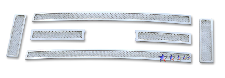 Ford Econoline  2008-2012 Chrome Main Upper Mesh Grille