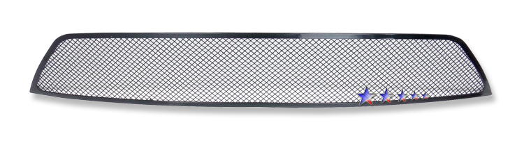 Ford Mustang Shelby Gt 500 2007-2009 Black Powder Coated Main Upper Black Wire Mesh Grille