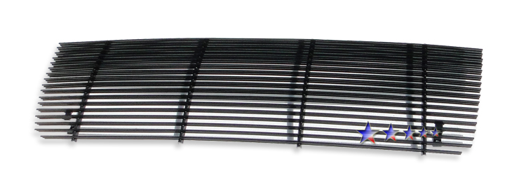 Ford F150  1992-1996 Black Powder Coated Main Upper Black Aluminum Billet Grille
