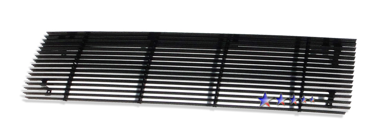 Ford Super Duty  1987-1991 Black Powder Coated Main Upper Black Aluminum Billet Grille